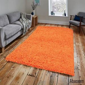 details sur orange shaggy tapis 80 x 150 cm plain epais doux haute pile 2ft6 x 5 ft environ 1 52 m afficher le titre d origine