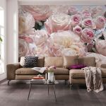 368x254cm Giant Wall Mural Wallpaper Living Room Decor Pink Flowers Roses Floral