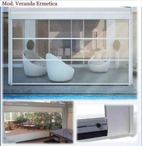 Tenda veneziana tende veneziane colore avorio in pvc 60x160 cm finestra beige. Tende In Cristal Trasparente Ermetiche Per Vento Pioggia E Sole Su Misura Ebay