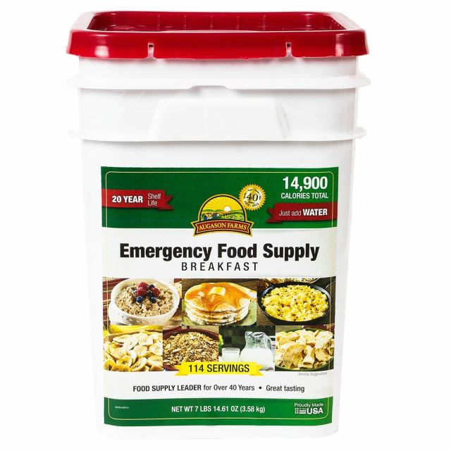 Augason Farms 162 Servings Emergency Food Storage Supply Dried Breakfast Pail 2