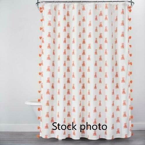 opalhouse tassel trim beige orange mini pineapple fabric shower curtain 72