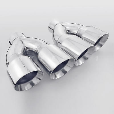 pair 3 inlet quad staggered 4 inch out exhaust tips for firebird camaro ls1 ss ebay