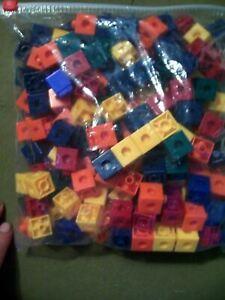 Red, dark blue, light blue, yellow, green, orange, maroon, brown, black, a. Educational Learning Unifix Math Plastic Cube Building Blocks Toys 175 Pieces Ebay
