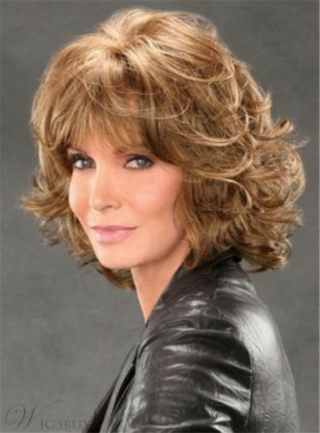 details about jaclyn smith mid-length shag with spiral curls capless synthetic wig 12 inches