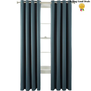 details about jcpenney home kathryn room darkening grommet 1 curtain panel teal 50 w x 108 l