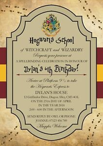 details about personalised harry potter birthday party invitations x 12