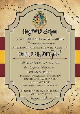 personalised harry potter birthday party invitations x 12 ebay