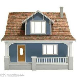 New Beachside Bungalow Dollhouse Kit With Chimney Easy