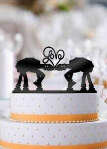 ATAT Imperial Walker Star Wars Love Wedding Cake Topper   eBay Image is loading ATAT Imperial Walker Star Wars Love Wedding Cake