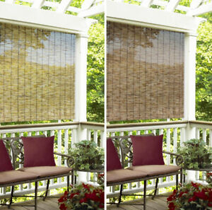 details about indoor outdoor window blinds natural bamboo roll up shade sun 4 6 in 2 colors