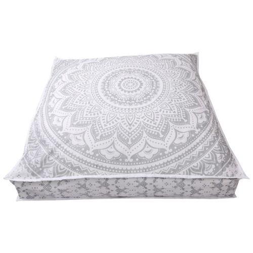 35 x 35 cotton floor pillow cover square mandala ombre meditation cushion cover home decor indian south asian home decor pillows
