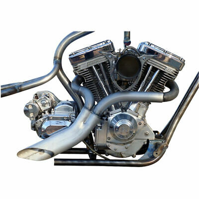 twisted choppers ground pounder 2 into 1 custom exhaust pipe pipes harley 02p ebay