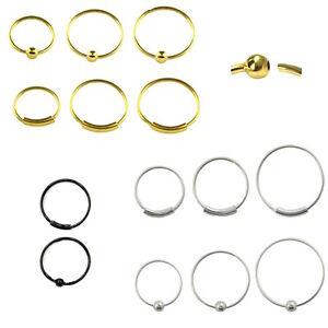 Nasenpiercing Nasenring 925er Silber/Gold/Sc