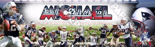 new england patriots poster banner 30 x 8 5 personalized custom name printing art posters art