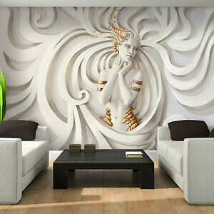 Photo Wallpaper 3D LOW RELIEF MEDUSA Wall Mural  3043VE    eBay Image is loading Photo Wallpaper 3D LOW RELIEF MEDUSA Wall Mural