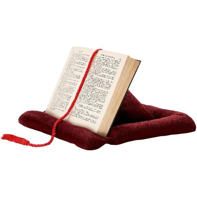 pyramid book rest cushion e reader ipad holder support integral cord bookmark