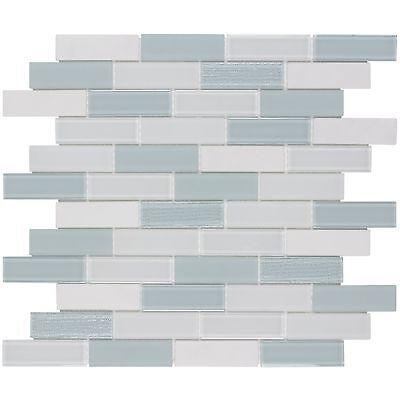 modern linear blue grey white glass stone mosaic tile backsplash wall mto0309 ebay