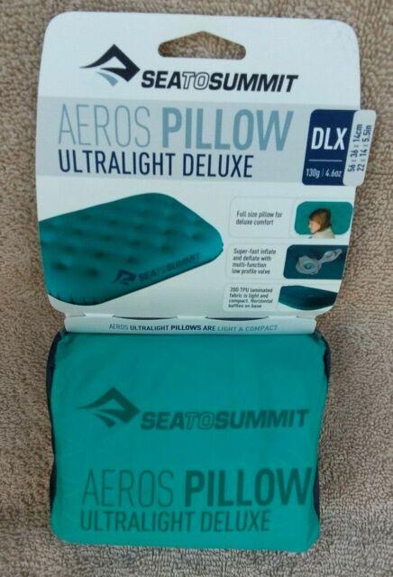 sea to summit aeros ultralight deluxe seafoam pillow dxl 56x36