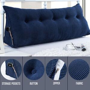 details about cushion triangular pillow wedge reading lumbar soft backrest bolster headboard