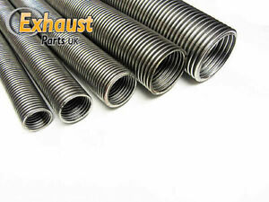 details about 2 5 universal flexible stainless steel flexi tube exhaust pipe 64mm 1 2m