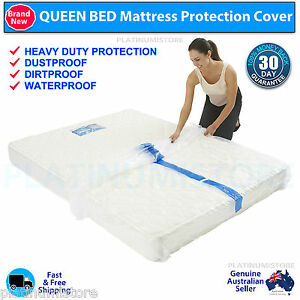 Image Is Loading 2 Queen Bed Mattress Protector Dust Cover Storage