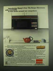 details about 1984 sharp r 1400 over the range carousel microwave ad
