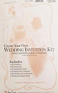 2 Wilton Diy Wedding Invitation Kits
