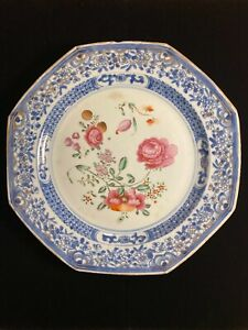 Antique China Chinese Porcelain Dish Plate 18th Century