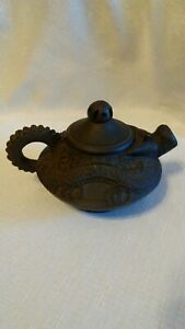 Antique Rare Chinese Yixing Zisha Dragon Clay Teapot With Ball 1920's