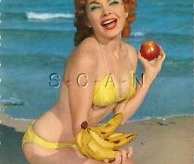Image Is Loading Original 1960s German Semi Nude Pinup Pc Redhead