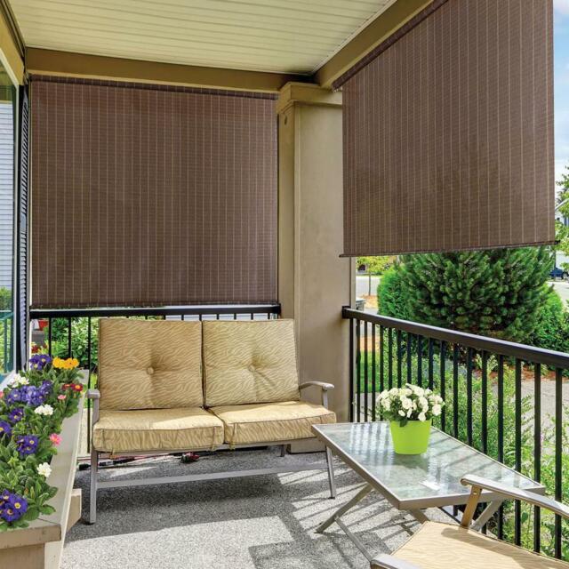 outdoor window shade 72 x 72 roll up