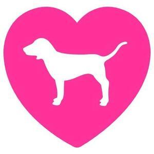 Download Pink heart love dog victoria secret vinyl decal sticker 4 ...