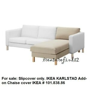Details About Ikea Cover For Karlstad Chaise Add On Chaise Longue Sivik Beige Slipcover Bnoob