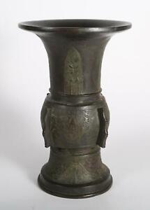 Chinese Archaic-Style Bronze Gu