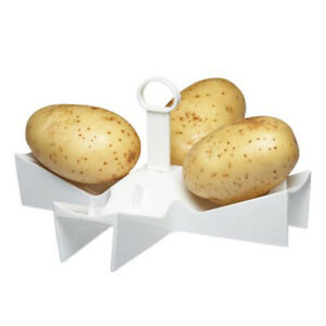 details about microwave baked jacket potato holder stand kitchen tool