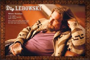 details zu the big lebowski movie poster dude white russian 24x36 jeff bridges