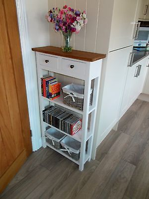 bespoke console kitchen hall 2 drawer table 110 x 60 x 25cm with real oak top ebay