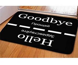 Welcome Large Doormats Hello Goodbye Pattern Indoor Outdoor Funny Non Slip Ebay