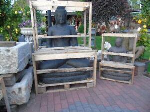 details sur bouddha assis statue bouddha en pierre 1 m 50 nouveau