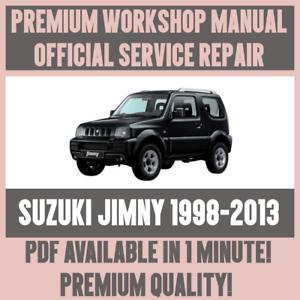 *WORKSHOP MANUAL SERVICE & REPAIR GUIDE for SUZUKI JIMNY 19982013 | eBay