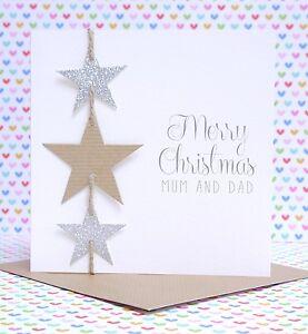 Beautiful Personalised Handmade Christmas Card Mum Amp Dad