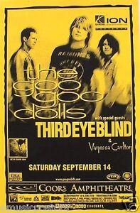 details about goo goo dolls third eye blind 2002 san diego concert tour poster buffalo rocks