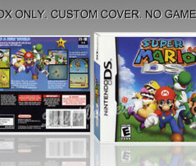 Image Is Loading Nintendo Ds Super Mario 64 Ds English Cover