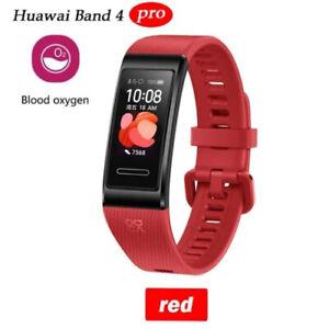 NEW Huawei Band 4 PRO SmartBand Heart Rate GPS SpO2 Blood Oxygen Smartwatch Red
