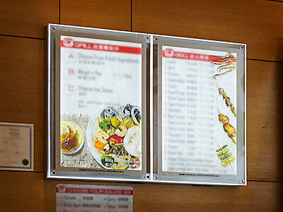 clear acrylic backlit illuminated led poster frame single side 30 in x 40 in ebay