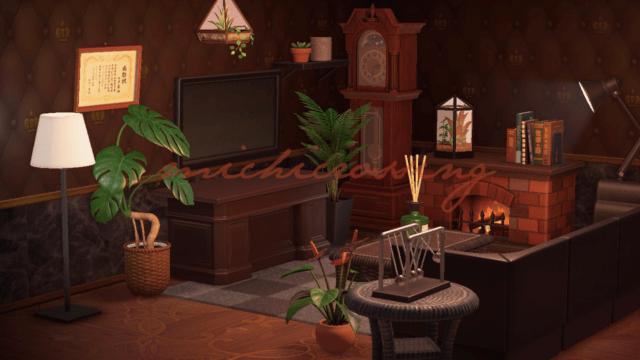 Dark Classy Living Room Design Animal Crossing   eBay on Animal Crossing Living Room Ideas  id=58034