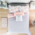 Gray Light Pink Young Wild Reversible Comforter Set 3 Pcs Twin Size For Sale Online Ebay