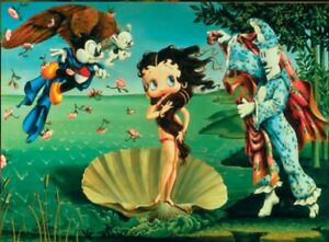 details about the birth of betty boop a botticelli take off original vintage poster 36x24
