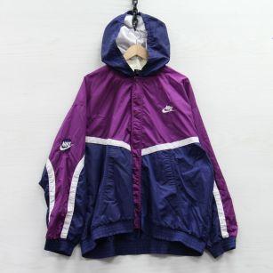 Image 1 - Vintage Nike Basketball Windbreaker Jacket 2XL Purple Blue Embroidered Swoosh