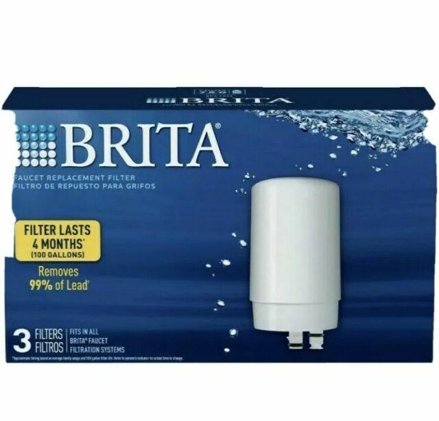 brita replacement tap water filter 3 pack